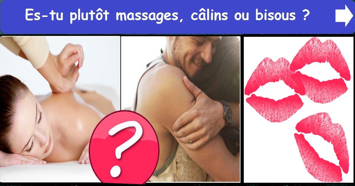 Message, Câlins ou Bisous
